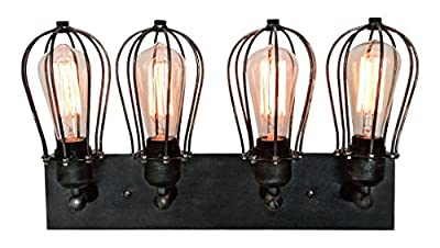 WestMenLights 4-Light Industrial Bathroom Vanity Lighting Wall Sconce
