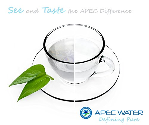 APEC Water Systems ROES-50 Essence Series Top Tier 5-Stage Certified Ultra Safe Reverse Osmosis Drinking Water Filter System