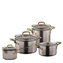 1965 Vintage Stainless Steel Cookware set 7 pieces by Italian Cooking Store