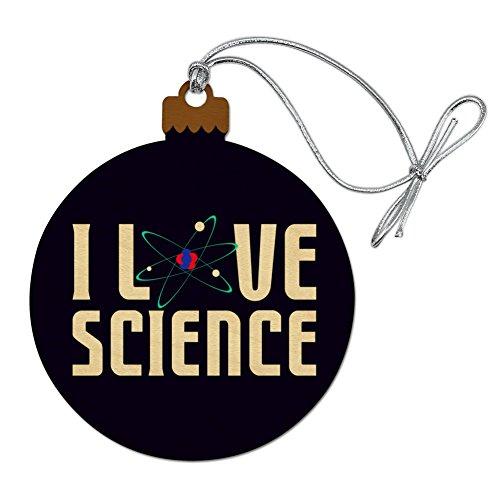 GRAPHICS & MORE I Love Science Atom Wood Christmas Tree Holiday Ornament