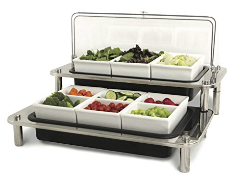 Smart Buffet Ware (Smart Buffet Ware 1A19492NSF, DOMINO Double Salad Cold Display)