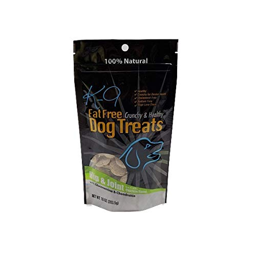 Fat Free Dog Treats - K9 Fat Free Dog Treats, Fat Free, Healthy and Low Calorie (Hip & Joint, 10 oz.)