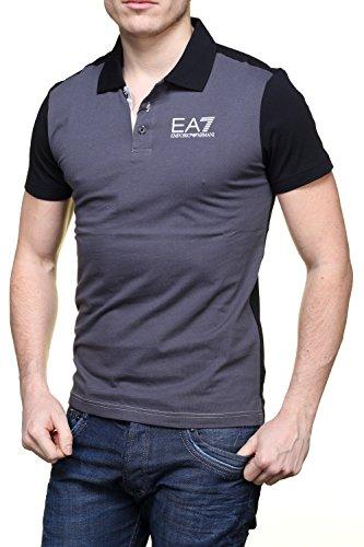 EA7 Herren Poloshirt schwarz schwarz