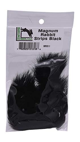 Hareline Magnum Rabbit Strips Black