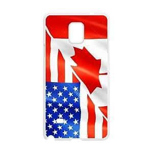 Cheap phone case, USA mixed Canada flag pattern for white plastic SamSung Galaxy Note4 case wangjiang maoyi by lolosakes