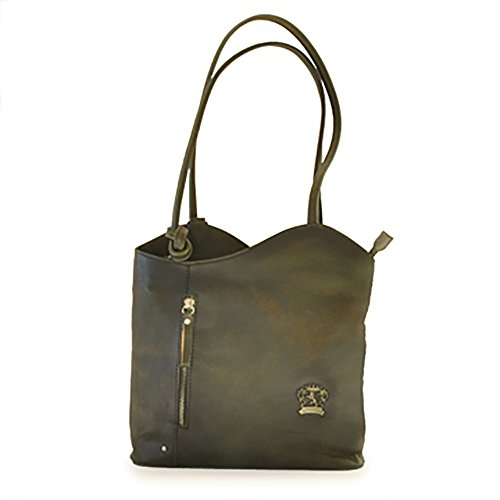 [Custom]Pratesi Italian Leather Consuma Backpack Shoulder Tote Bag, Dark Green by Pratesi