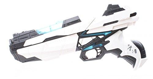 JohnToy 26058 Space & Protect Shooter Medium 29cm mit Licht und 6 Darts, Mehrfarbig