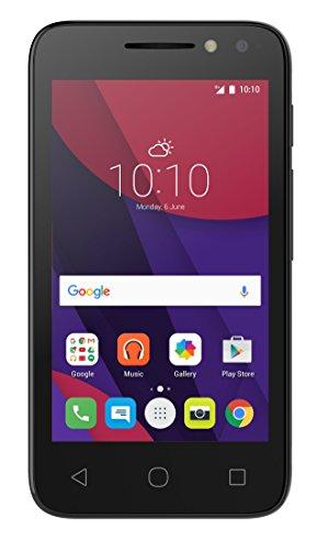 Alcatel Pixi 4-4 3G Smartphone (10,2 cm (4 Zoll), Android, 3 Megapixel Kamera, 4 GB Speicher, 32 GB SD-Karten-Slot, Dual-SIM) schwarz