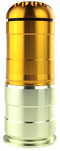 NC Aluminum Green Gas BB Shower for Airsoft - Gold (Airsoft Spring Grenade Launcher)