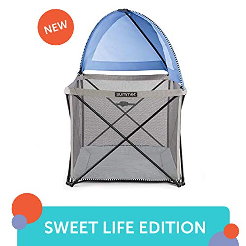 Summer Pop n Play SE Cube Playard Sweetlife Edition , Blue Raspberry, 4-Sided