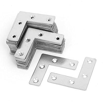 eDealMax 50mmx50mmx1mm metal en forma de L plana de fijación Mending reparación Placas Soportes 50pcs - - Amazon.com