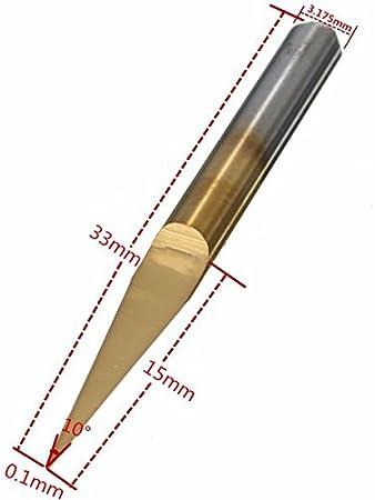 HaimoBurg 10 Piezas Fresas con forma de V Fresa para grabar corte 0.1 mm //15/º