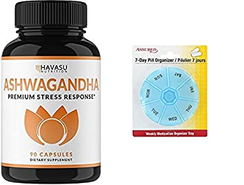 Ashwagandha Premium 1000mg | Alivio de la ansiedad Natural, cuenta 90 con gratis 7 días