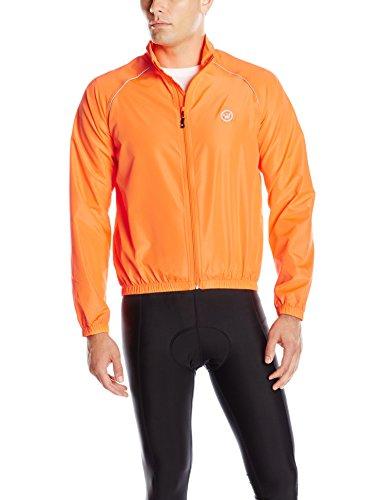 (CANARI Men's Solar Flare Wind Shell Jacket, Solar Orange, Small)