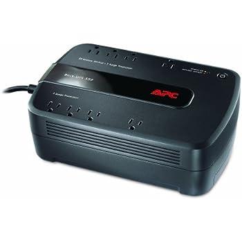 APC Back-UPS 550VA UPS Battery Backup & Surge Protector (BE550G)