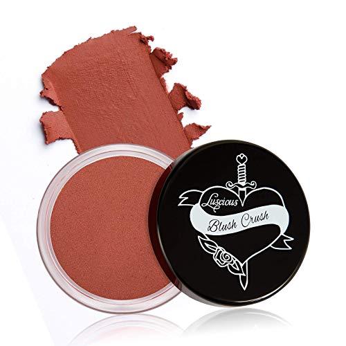 Blush Crush Cream Lip & Cheek Tint by Luscious Cosmetics   Natural Matte Finish   Ultra-blendable, Skin Flattering Formula   Cruelty Free & Vegan Cream Blush. (Shade - Adoration) - 0.39oz