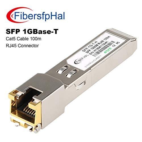 FiberHal for HP JD089B Copper SFP Module, Gigabit RJ45 1.25G-T Transceiver Reach 100m