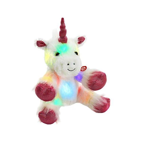 Wewill iluminado LED unicornio con felpa blanca Heavenly 12 pulgadas, s, s