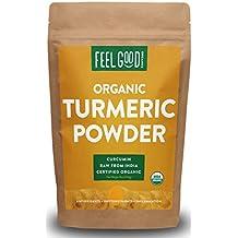 Organic Turmeric Powder - 16oz Resealable Bag (1lb) - 100% Raw w/Curcumin From India - by Feel Good Organics