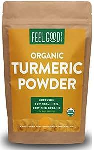 Organic Turmeric Powder - 16oz Resealable Bag (1lb) - 100% Raw w/ Curcumin From India - by Feel Good Organics