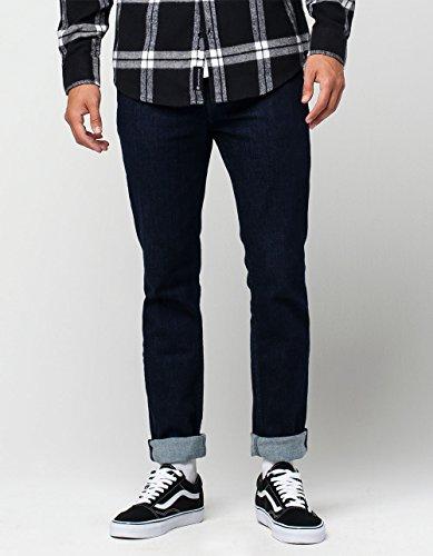 Levi's? Mens Men's 511? Slim Chainsaw Rinse Distressed Jeans 36 X (Black Rinse Apparel)