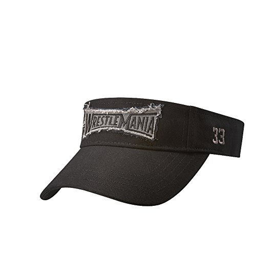 WWE WrestleMania 33 Visor Black One Size by WWE Authentic