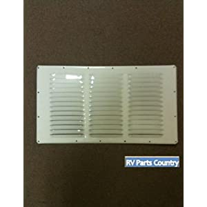 Dometic 8030122320 Refrigerator Vent for RM122 - Upper Side Vent, Polar White