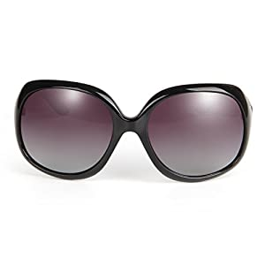 LianSan Oversized Women's Uv400 Protection Polarized Sunglasses Simple Sunglasses Lsp3113 (polarized black 3113)