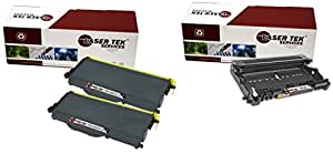 Laser Tek Services® Combo Pack of 2 TN360 Compatible Cartridges, and 1 DR360 Compatible Drum Unit compatible with Brother TN360 DR360 HL-2130, HL-2140, HL-2150N, HL-2170, HL-2170W, MFC-7320, MFC-7340, MFC-7345N, MFC-7345DN, MFC-7440N, MFC-7840W, DCP-7030, DCP-7040