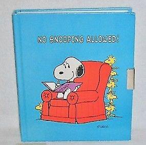 MINT Hallmark Peanuts Snoopy Diary - No Snooping Allowed! 1980
