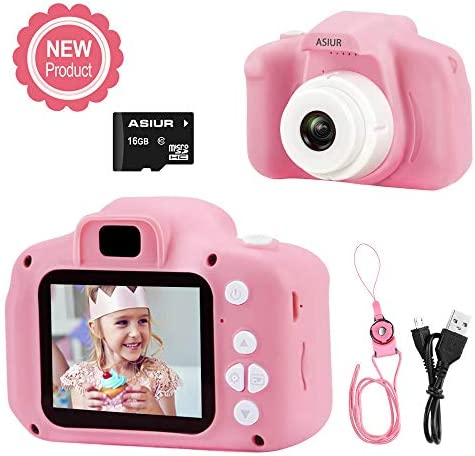 Digital Camera for KidsASIUR 1080P FHD Kid Digital Video Camera Children Camera16GB SD Card for 3-10 Years Girls