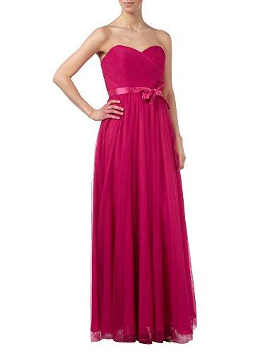 Abendkleider Linie Braut Marie Partykleider Einfach Elegant Lang A Grau Herzausschnitt Pink La Brautjungfernkleider Rq0BP1wBn