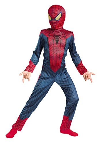 Boys Spider-Man Movie Classic Kids Child Fancy Dress Party Halloween Costume, S (4-6) (Spiderman Costume Movie)