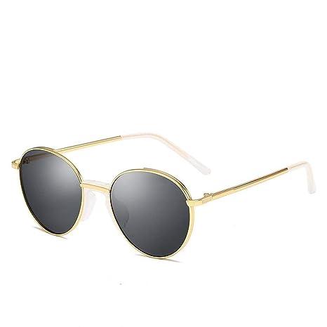 Gafas de Sol Vintage Round Metal Sunscreen UV400 luz ...