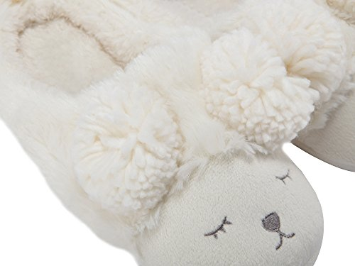 back Femme Peluche Blanc Chaussons Pour Summer Hiver Animaux Mae Open Motifs 0AvqvZ