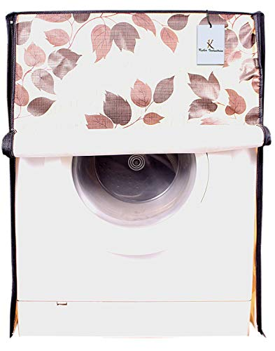 Kuber Industries PVC Front Load Fully Automatic Washing Machine Cover Set - Cream India 2021