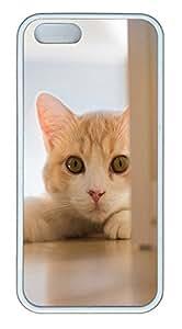 iPhone 5 5S Case Cute Cat Pics 05 TPU Custom iPhone 5 5S Case Cover White