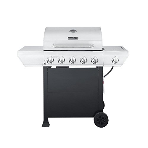 5-Burner Propane Gas Grill in Stainless Steel with Side Burn