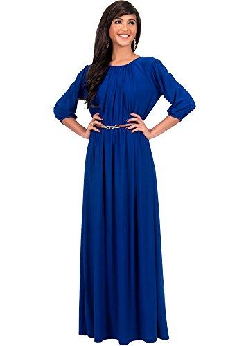KOH KOH Plus Size Women Long 3/4 Sleeve Sleeves Vintage A...