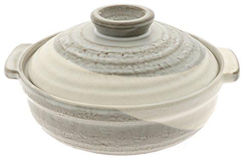 Kotobuki 190-911D Donabe Japanese Hot Pot, Large, Gray by Kotobuki
