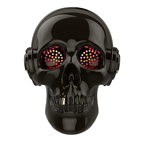 Sound Sculptures - TOPROAD Cool Skull Wireless Speaker SADAN LED Wireless Super Bass Stereo Sound Cool Skull artwork speaker with Wonderful Eyes Light for Party/Office/Business/Bedroom/Outdoor