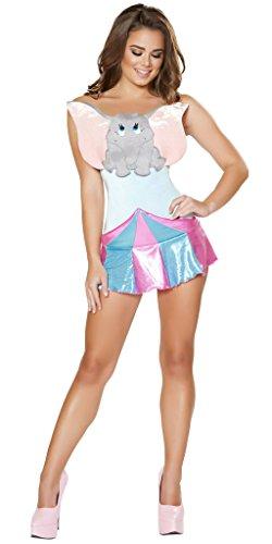 Dumbo Girl Halloween Costume - Blue/Pink/Grey - -