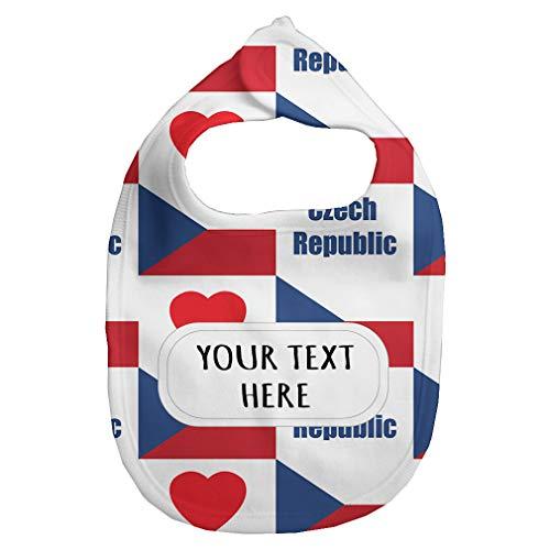 Heart Flag Bib - Baby Fleece Bib Custom Czech Flag Heart Pattern A Unisex Children, One Size