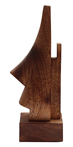 """abhandicrafts Sale for Today ONLY 6"""" Witty Mango Wood Polish Wooden Spectacle Holder - Nose Shaped Eyeglass Holder Display Stand - Desktop Accessory"""