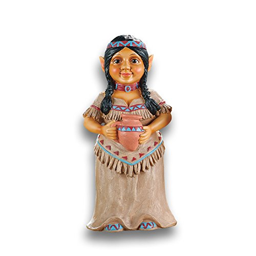 - Collections Etc Native American Garden Gnomes Outdoor Southwestern Decor, Mrs. Chief