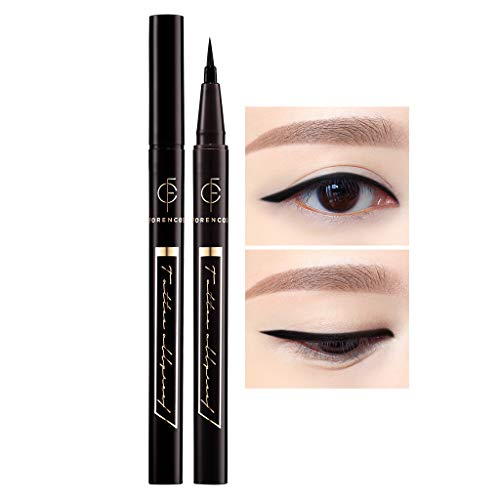 [FORENCOS] Tattoo All Proof Eyeliner 0.6g 4 Colors - All Day Long Lasting Brush Pen Eye Liner, Waterproof, Oilproof, Sweatproof, Easy Drawing, Natural Ingredients for Sensitive Eyes (01 Black)