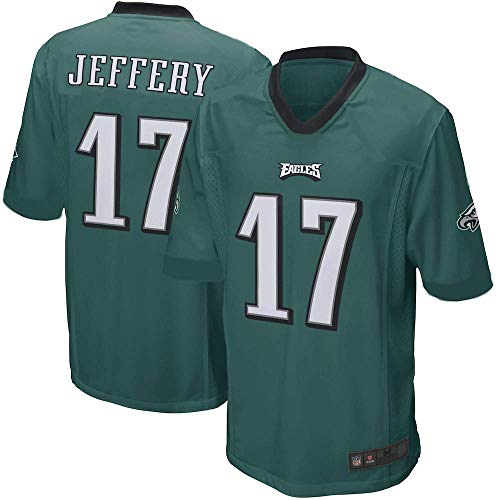 Outerstuff Alshon Jeffery Philadelphia Eagles NFL Kids 4-7 Green Alternate Mid-Tier Jersey (Kids 5/6)