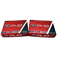 Wilson Staff DUO Spin Golf Balls 24 Balls - White, NEW 2-Dozen