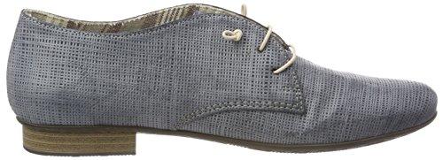 Azur Zapatos 51901 para Derby Cordones Azul de Mujer Rieker B8Axq1A
