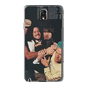 Shockproof Hard Phone Case For Samsung Galaxy Note3 (ZDY10699ehAW) Unique Design Nice Red Hot Chili Peppers Series